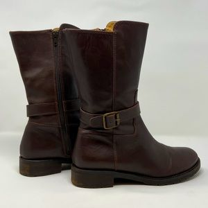 J. Crew leather mid-calf brown boots